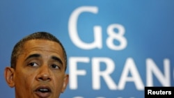 Барак Обама дар нишасти гурӯҳи Ҷи-8 дар шаҳри Дювели Фаронса