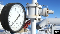 A gas-compressor station in the Ukrainian city of Boyarka on January 1