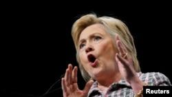 Хиллари Клинтон выступает на съезде Демократической партии США (Филадельфия, 25 июля 2016 года)