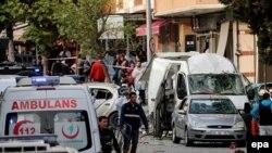 На місті вибуху у Стамбулі, Туреччина, 6 жовтня 2016 року