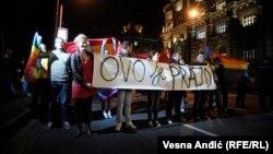 Белград қаласындағы гомосексуалдар акциясы. Сербия, 27 қыркүйек 2013 жыл.