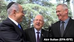 Нетанјаху, Ривлин и Ганц
