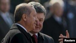 Петро Порошенко і Реджеп Таїп Ердоган у Києві, 20 березня 2015 року