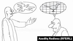 Raşid Şerifiň çeken karikaturasy (Guş).