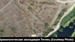 Аэрофотосъемка крепости Тягин