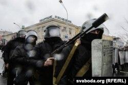 Силовики в День Воли в Минске 25 марта 2017 года