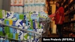 Mleko u jednoj od beogradskih prodavnica