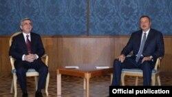 Serzh Sarkisian və İlham Əliyev Vyanada danışıqlar zamanı