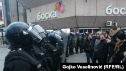 Policija i demonstranti na ulicama Banjaluke, ilustrativna fotografija