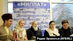 "Адалло ГIалиев ""Миллат"" газетаялъул редакциялда"