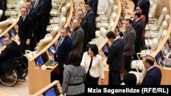 Саломе Зурабишвили в парламенте, 6 марта 2019 г.