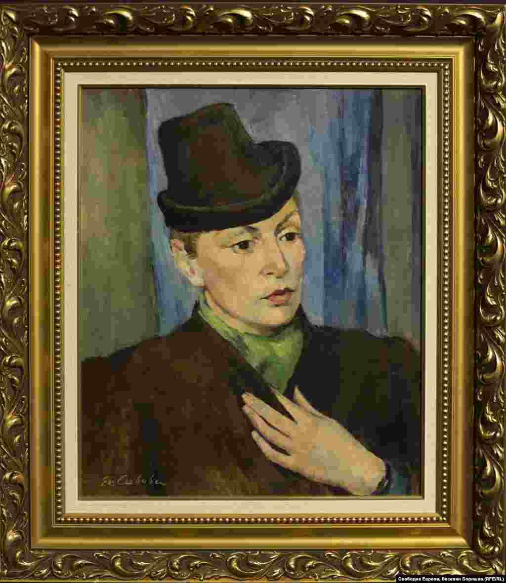 """Екатерина Савова Ненова, """"Портрет на Герда Ангелушева"""", 1941 г. Художничката е член на различни дружества и активно участва в няколко женски организации, създадени през 30-те години на 20 век."""
