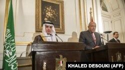 تصویری از دیدار دو سال پیش وزیران خارجه مصر و عربستان سعودی در قاهره
