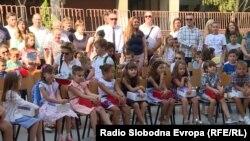 Прв училишен ден во училиштето Гоце Делчев во општина Центар во 2019 година.