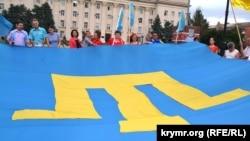 Прапор кримських татар. Херсон