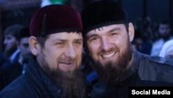 Рамзан Кадыров (слева), Ислам Кадыров (справа). Архивное фото