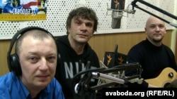 Музыкі гурту гурту «Neuro Dubel» у студыі Радыё Свабода