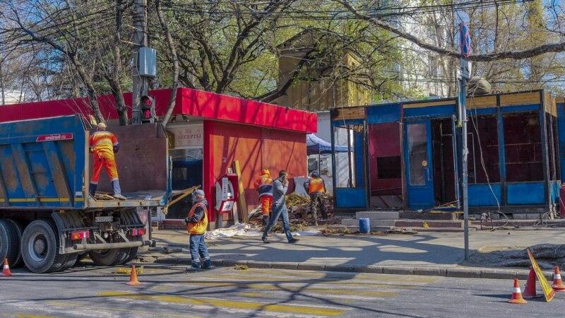 В Симферополе продолжают сносить торговые объекты (+фото)