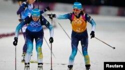 Валя Семеренко (праворуч) відправляє Олену Підгрушну за олімпійським «золотом» Сочі (архівне фото)