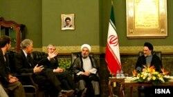 دیدار محمد خاتمی، رئیسجمهور وقت ایران با وزاری خارجه برتانیا، فرانسه و آلمان