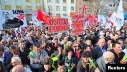 Protest protiv Deklaracije u Novom Sadu