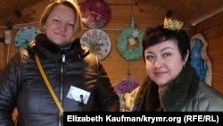 Марія Латишева і Юлія Довгань, учасниці ярмарки з Ялти і Севастополя