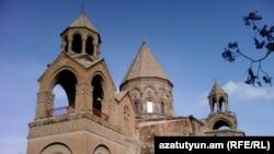 Armenia -- The main Cathedral of the Armenian Apostolic Church in Etchmiadzin, Ejmiatsin, undated