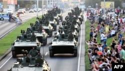 Mimohod u Zagrebu za Dan pobjede, kolovoz 2015
