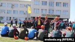 Збор работнікаў «Беларуськалію» ў Салігорску, 17 жніўня 2020