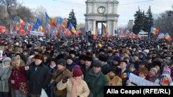 Proteste antiguvernamentale la Chișinău. 24 ianuarie 2016
