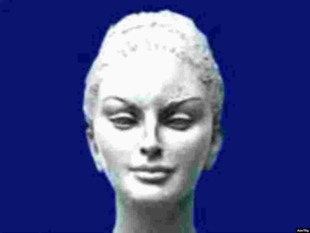 """Canada - the sculpture """"Divine Muse"""" (Mehriban Aliyeva) by Omar Eldarov, undated"""