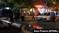 Policija i istražitelji na mjestu napada na novinarku Oliveru Lakić, Podgorica.