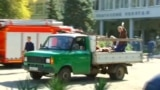GRAB - Injured Taken To Hospital On Truck After Kerch Blast