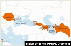 Ruta de mărfuri Turkmenistan-Romania