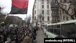 Киевта протест чаралары дәвам итә