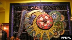 Мозаїка Алли Горської. «Жінка-птах»