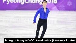 Денис Тен Пхенчхан олимпиадасында. 16 ақпан 2018 жыл.