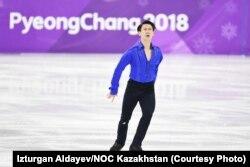 Денис Тен выступает на Олимпийских играх в Пхёнчхане (Южная Корея). 16 февраля 2018 года.