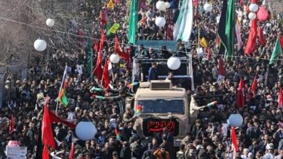 Sahrana Qasema Soleimanija, ubijenog iranskog vojskovođe