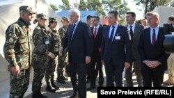 Pripreme pred početak vežbe u Crnoj Gori