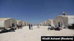 Палаточный городок в Сирии