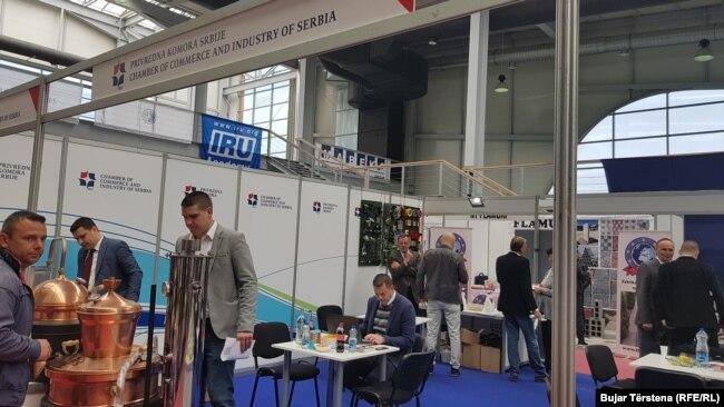 """Kompanitë serbe kanë prezantuar produktet e tyre në panairin """"Prishtina 2018"""""""