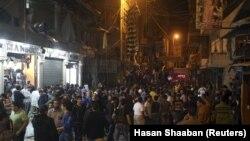 منطقه برج البراجنه، دقایقی پس از انفجارهای روز پنجشنبه