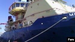 عکسی که خبرگزاری فارس از این کشتی خارجی منتشر کرده است.