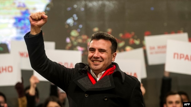 Opposition Social Democrat leader Zoran Zaev is also courting the Albanian minority.