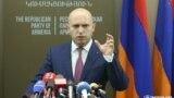 Зампред РПА Армен Ашотян на пресс-конференции