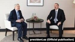 İsveçrə, prezident İlham Əliyev George Sorosla görüşür. 22 yanvar 2015