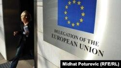 Status kandidata nije besplatan ručak: komesar Johannes Hahn (na fotografiji: zgrada Delegacije EU u BiH, Sarajevo)