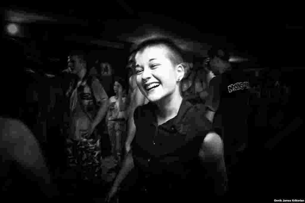 """Anika Jorjadze is a 15-year-old Georgian who discovered punk music last year. """" Punk is a culture and I like it,"""" she says. """"There aren't many people who listen to this music, but I find myself in the lyrics of punk rock songs. It has energy, rhythm..."""""""