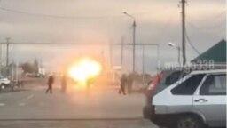 Взрыв в Грозном у Старопромысловского КПП 17 ноября